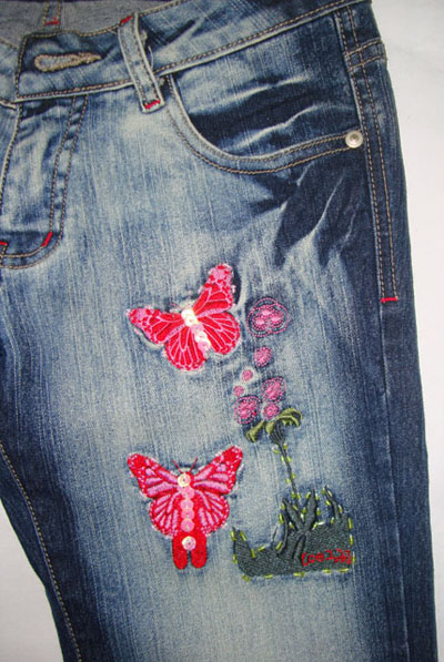 Embroidery canton jeans fashion co ltd